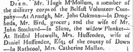 Belfast Newsletter 5 April 1785