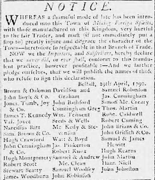Belfast Newsletter 21-25 May 1790