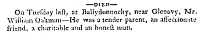 Belfast Newsletter 4 Feb 1803