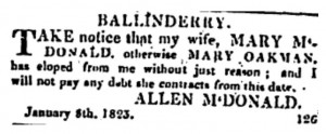 Belfast Newsletter 8 Jan 1823