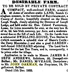 Belfast Newsletter 3 Jan 1834