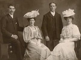 Wedding of Margaret McClure (right)