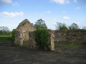 The ruins of the original farm house at Templecormac